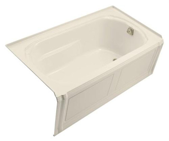 Kohler K1108RAAL Portrait 5' Bath With Integral Apron Tile Flange And Right-Hand Drain - Almond