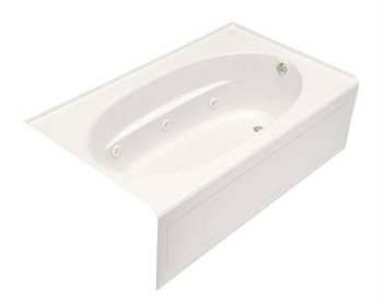 Kohler K-1112-RA-0 Windward 5' Whirlpool With Integral Apron and Right Hand Drain - White