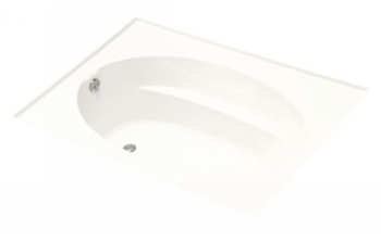Kohler K-1113-L-0 Windward 5' Bath With Tile Flange and Left Hand Drain - White