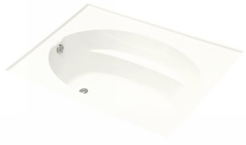 Kohler K1114GWH Windward 6' Bubble Massage Bath - White