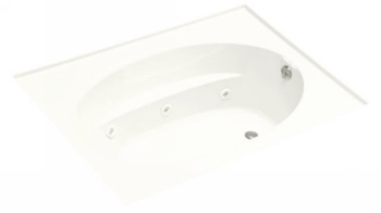 Kohler K-1114-H-0 Windward 6' Whirlpool With In-Line Heater - White