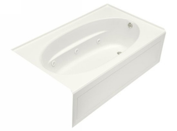 Kohler K-1114-RA-0 Windward 6' Whirlpool With Integral Apron - White