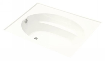 Kohler K-1115-L-0 Windward 6' Bath With Integral Flange and Left Hand Drain - White