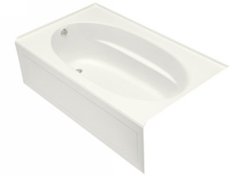 Kohler K-1115-LA-0 Windward 6' Bath With Integral Apron and Left Hand Drain - White