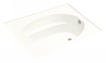 Kohler K-1115-R-0 Windward 6' Bath With Integral Flange and Rigth Hand Drain - White