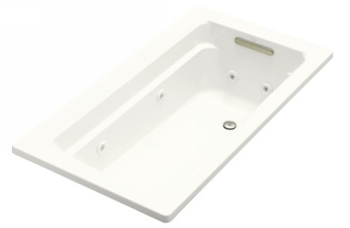 Kohler K-1122-0 Archer 5' Whirlpool With Comfort Depth Design In White