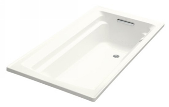 Kohler K-1122-G-0 Archer Bubble Massage 5' Bath With Comfort Depth Design - White