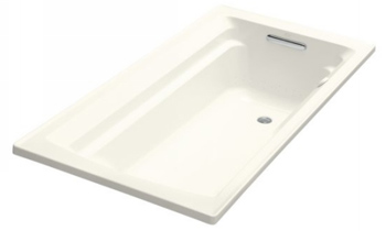 Kohler K-1122-G-96 Archer Bubble Massage 5' Bath With Comfort Depth Design - Biscuit