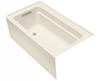 Kohler K1123LAAL Archer 5' Bath With Integral Apron And Left Hand Drain - Almond