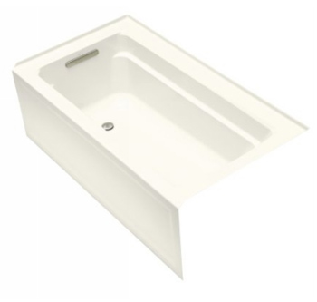 Kohler K-1123-LA-96 Archer 5' Bath With Integral Apron And Left Hand Drain - Biscuit