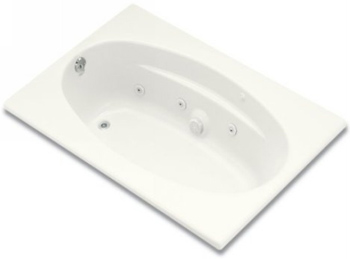 Kohler K-1126-L-0 6042 Proflex Whirlpool With Flange And Left-Hand Drain In White