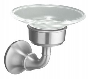 Kohler K11280G Forte Soap Dish - Brushed Chrome