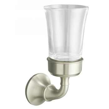 Kohler K11281BN Forte Tumbler and Toothbrush Holder - Brushed Nickel