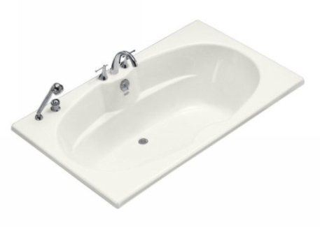 Kohler K-1132-0 Proflex 6 Foot Drop In Soaking Tub with Center Drain - White