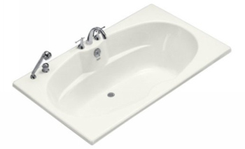 Kohler K 1132 0 Proflex 6 Foot Drop In Soaking Tub With Center Drain White