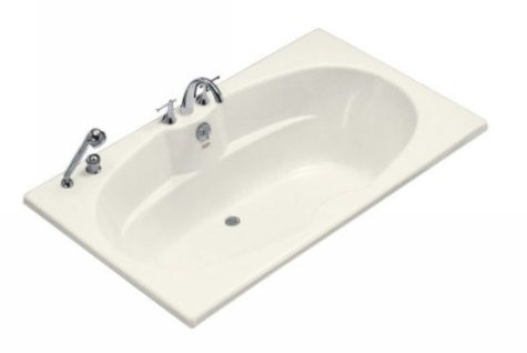 Kohler K-1132-96 Proflex 6 Foot Drop In Soaking Tub with Center Drain - Biscuit