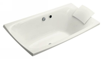 Kohler K11343GWH Escale Bubble Massage Bath - White