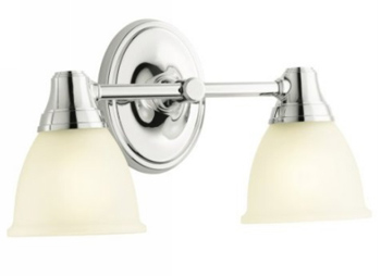 Kohler K-11366-CP Forte Transitional Double Wall Sconce - Polished Chrome