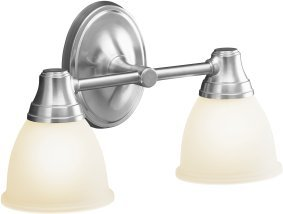 Kohler K-11366-G Transitional Double Wall Sconce - Brushed Chrome
