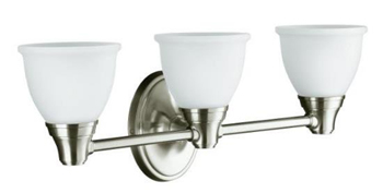 Kohler K-11367-BN Forte Classic Three Light Wall Sconce - Vibrant Brushed Nickel