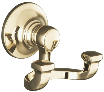 Kohler K-11414-AF Bancroft Double Robe Hook - French Gold