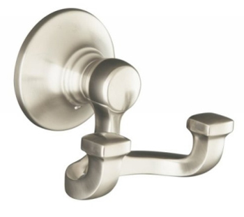 Kohler K-11414-BN Bancroft Double Robe Hook - Brushed Nickel