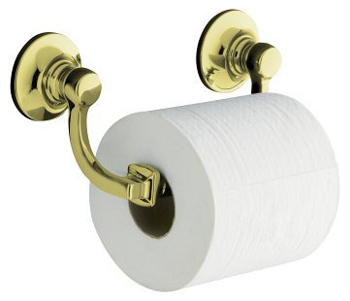 Kohler K-11415-AF Bancroft Toilet Tissue Holder - Vibrant French Gold