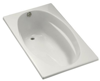 Kohler K-1142-0 Proflex 5 Foot Drop In Soaking Tub With Reversible Drain - White
