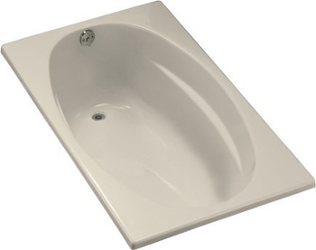 Kohler K-1142-47 Proflex 5 Foot Drop In Soaking Tub With Reversible Drain - Almond