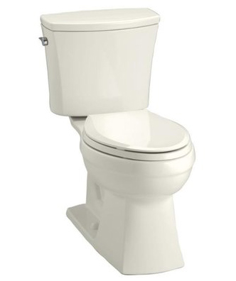 Kohler K-11453-96 Kelston Comfort Height 1.28 GPF Elongated Toilet With Cachet Toilet Seat And Left-Hand Trip Lever - Biscuit