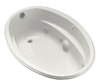 Kohler K-1146-0 Proflex 5 Foot Drop In Jetted Tub With Left-Hand Drain - White