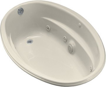 Kohler K-1146-47 Proflex 5 Foot Drop In Jetted Tub With Left-Hand Drain - Almond