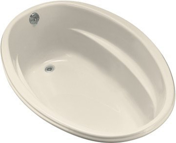 Kohler K-1147-47 Proflex 5 Foot Drop In Soaking Tub with Reversible Drain - Almond