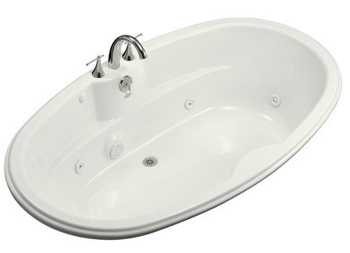 Kohler K-1148-0 Proflex 6 Foot Drop In Jetted Tub with Center Drain - White