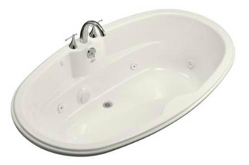 Kohler K-1148-96 Proflex 6 Foot Drop In Jetted Tub with Center Drain - Biscuit