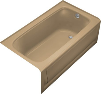 Kohler K-1150-RA-33 Bancroft ? 5' Bath With Integral Apron and Right Hand Drain - Mexican Sand