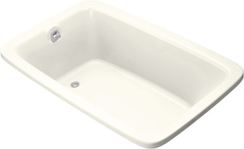 Kohler K-1156-96 Bancroft 5.5 Foot Drop In Soaking Tub With Reversible Drain - Biscuit