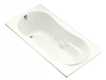 Kohler K-1157-0 Proflex 6 Foot Drop In/Alcove Jetted Tub with Left Hand Drain - White