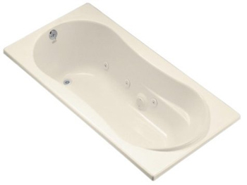 Kohler K-1157-47 Proflex 6 Foot Drop In/Alcove Jetted Tub With Left Hand Drain - Almond