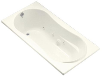 Kohler K-1157-96 Proflex 6 Foot Drop In/Alcove Jetted Tub With Left Hand Drain - Biscuit