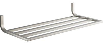 Kohler K-11577-BN Loure Modern Metal Towel Shelf - Brushed Nickel