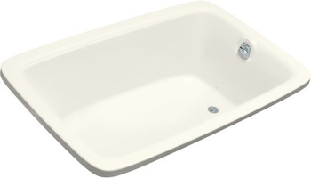 Kohler K-1158-G-96 Bancroft 5.5' BubbleMassage Bath - Biscuit