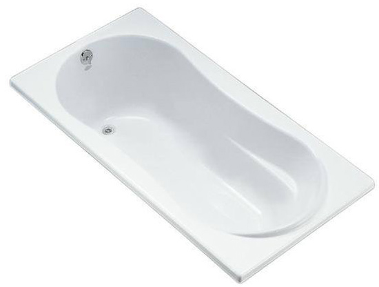 Kohler K-1159-0 Proflex 6 Foot Drop In Soaking Tub with Reversible Drain - White