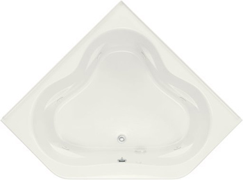 Kohler K-1160 Tercet 5 Foot Corner Jetted Tub with Center Drain - White