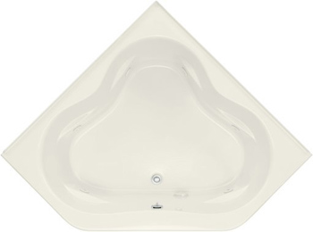 Kohler K-1160 Tercet 5 Foot Corner Jetted Tub with Center Drain - Biscuit