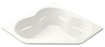 Kohler K-1160-G-0 Tercet BubbleMassage Corner Bath - White