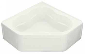 Kohler K-1160-GLA-0 Tercet 5' BubbleMassage Bath With Integral Apron - White