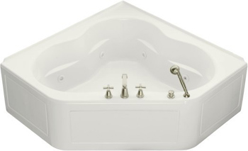 Kohler K-1160-HL-0 Tercet 5' Whirlpool With Integral Apron and In-Line Heater - White