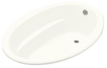 Kohler K-1162-G-0 Sunward 5' BubbleMassage Bath - White