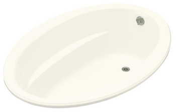 Kohler K-1162-G-96 Sunward 5' BubbleMassage Bath - Biscuit